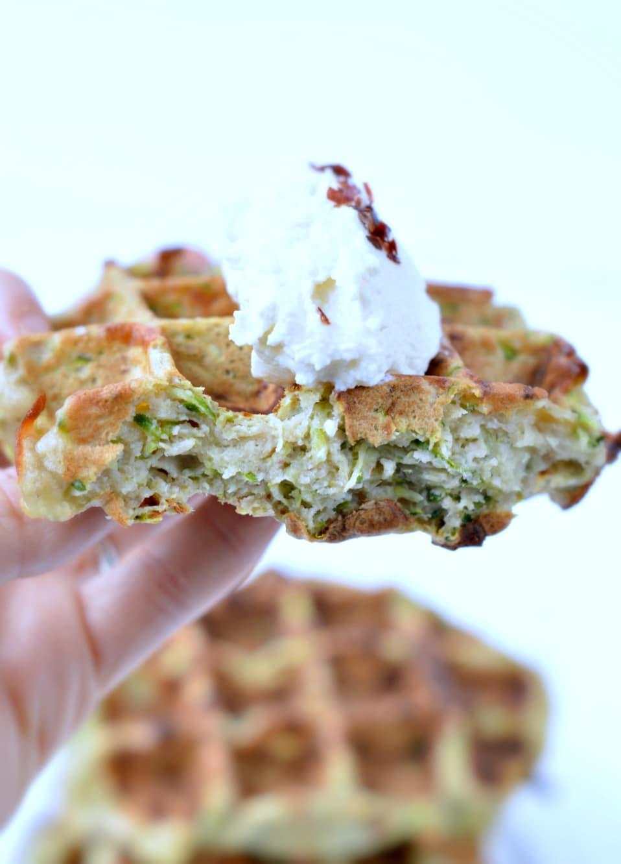 Parmesan Zucchini Waffles - Gluten free - Sweetashoney