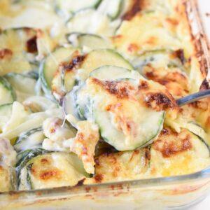 zucchini casserole with sour cream