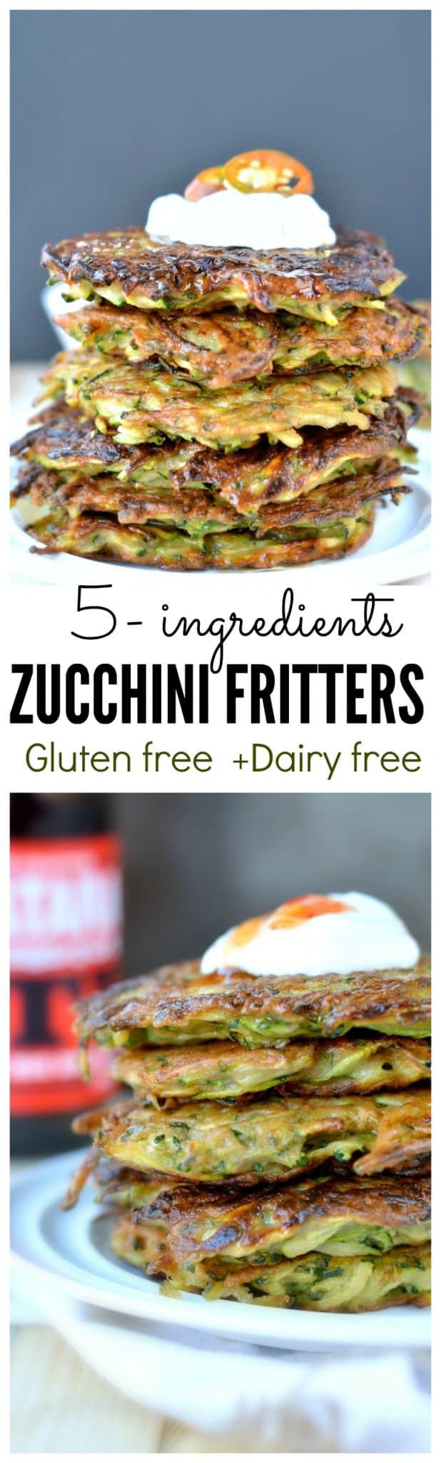zucchini fritters gluten free dairy free